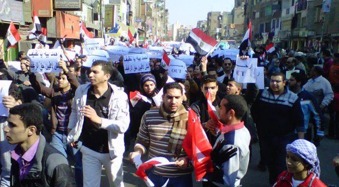 Der arabische Frühling: Tunesien und Ägypten vor und nach der Revolution.