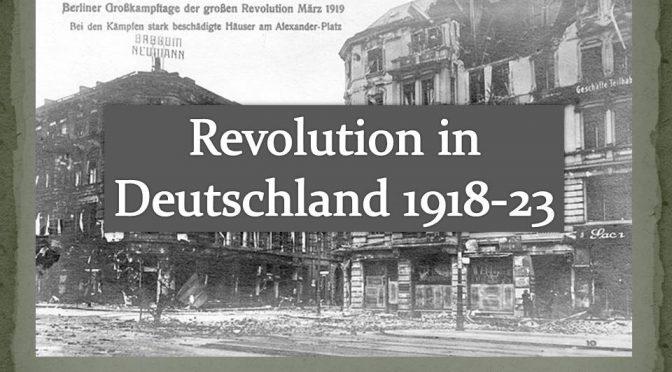 Revolution in Deutschland 1918-23 – Vortrag mit Daniel Kulla